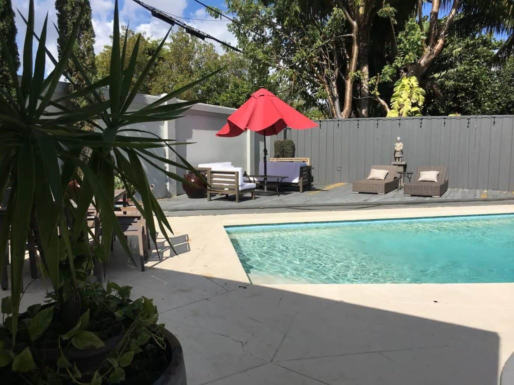 Photo of pool at Mi Casita Airbnb in Miami.