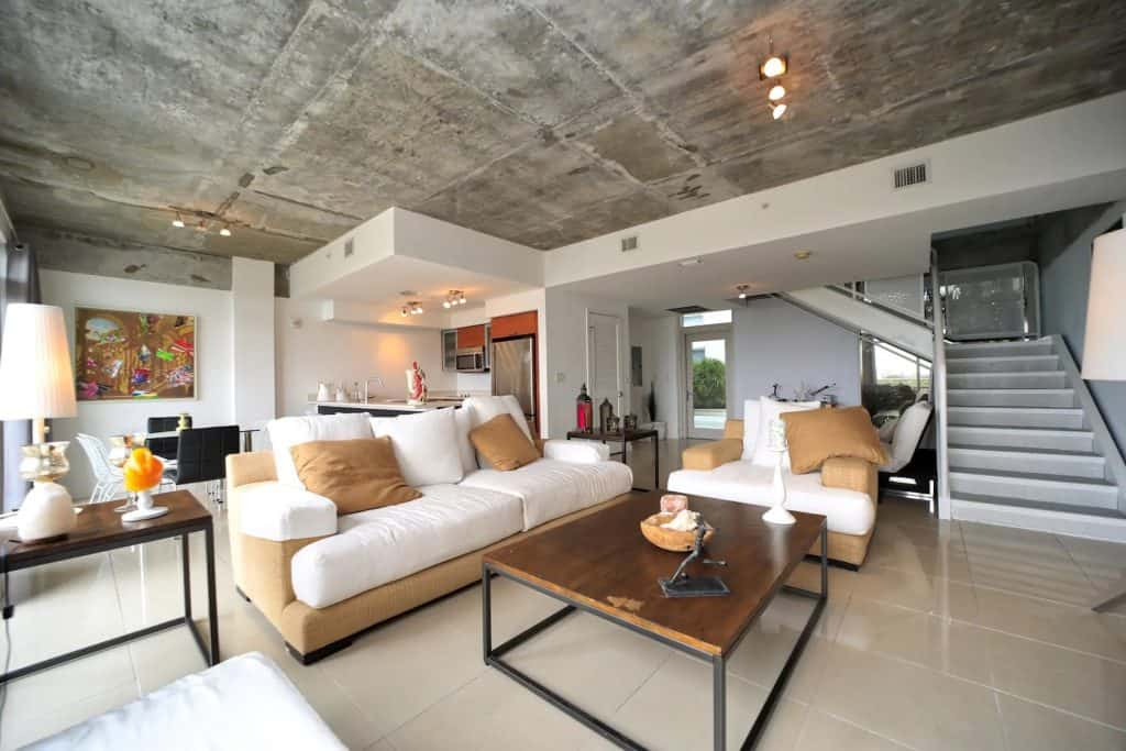 Photo of Photo of the living room of a spacious Midtown apartment Airbnb in Miami.