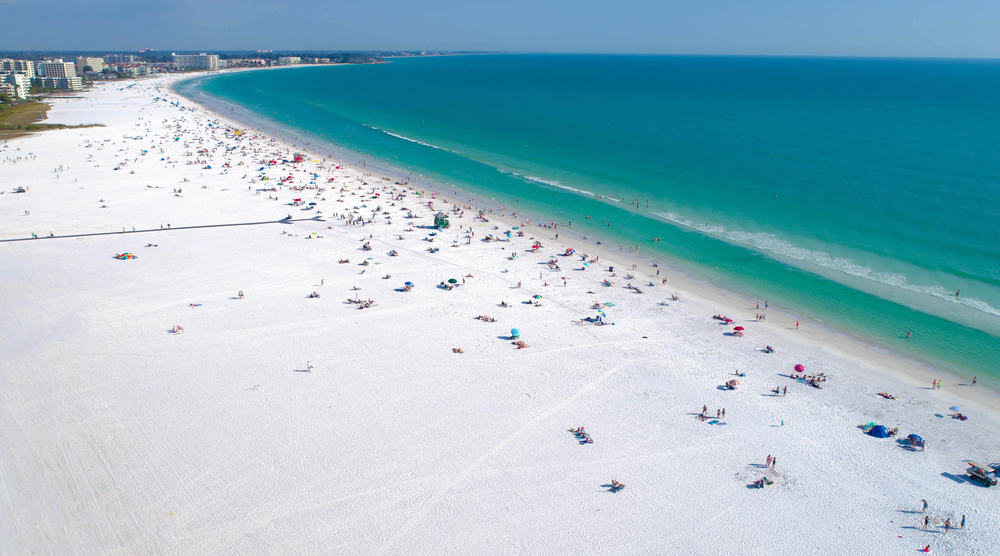 photo of one of the top Florida beaches in Siesta Key