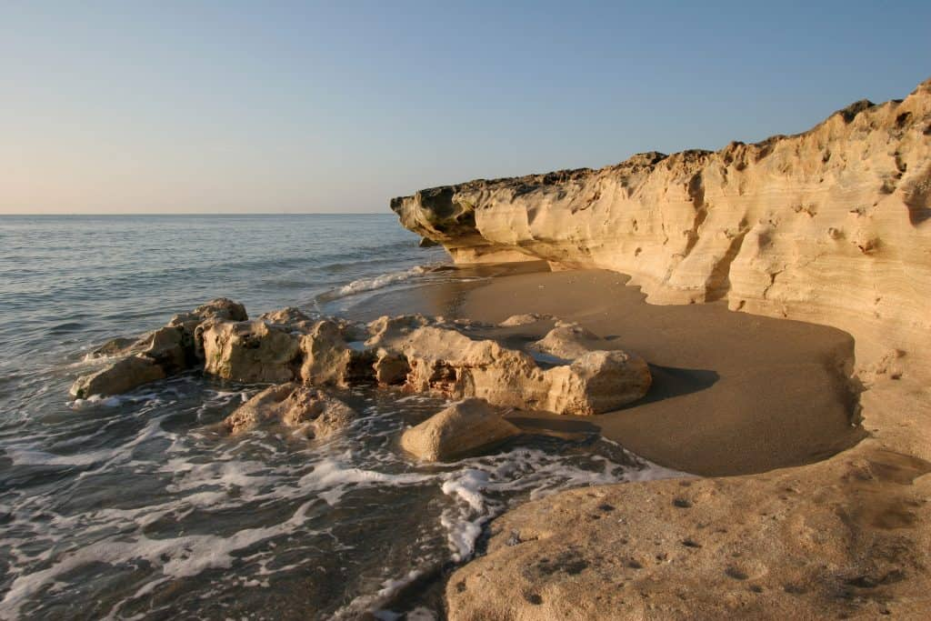 Hidden gems florida blowing rocks at low tide at sunset.