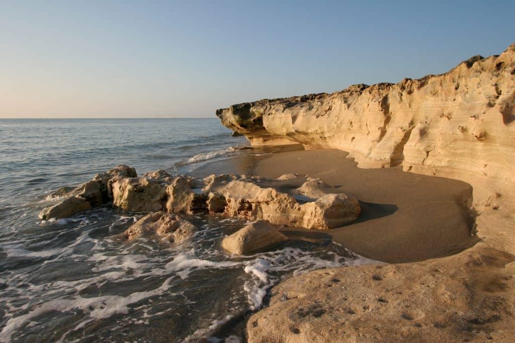Hidden gems florida blowing rocks at low tide at sunset.