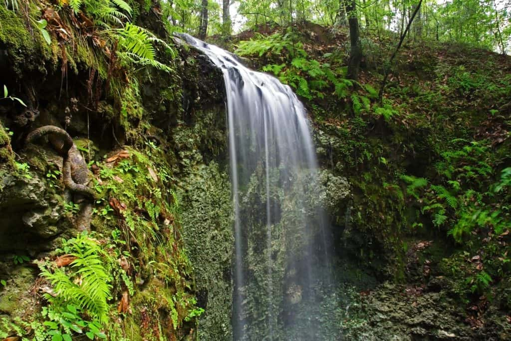Hidden gems florida falling waters park waterfall.