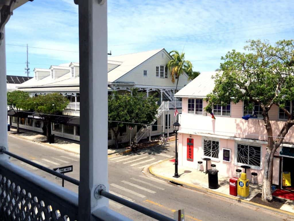 Airbnb in Key West with balcony over looking Duval street