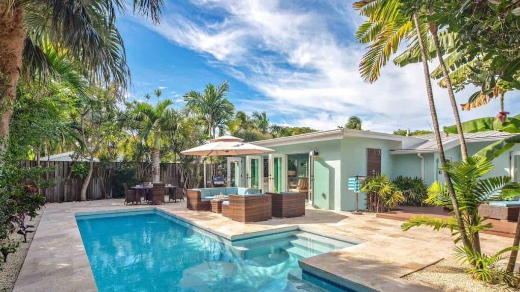 Airbnb in key west with large pool