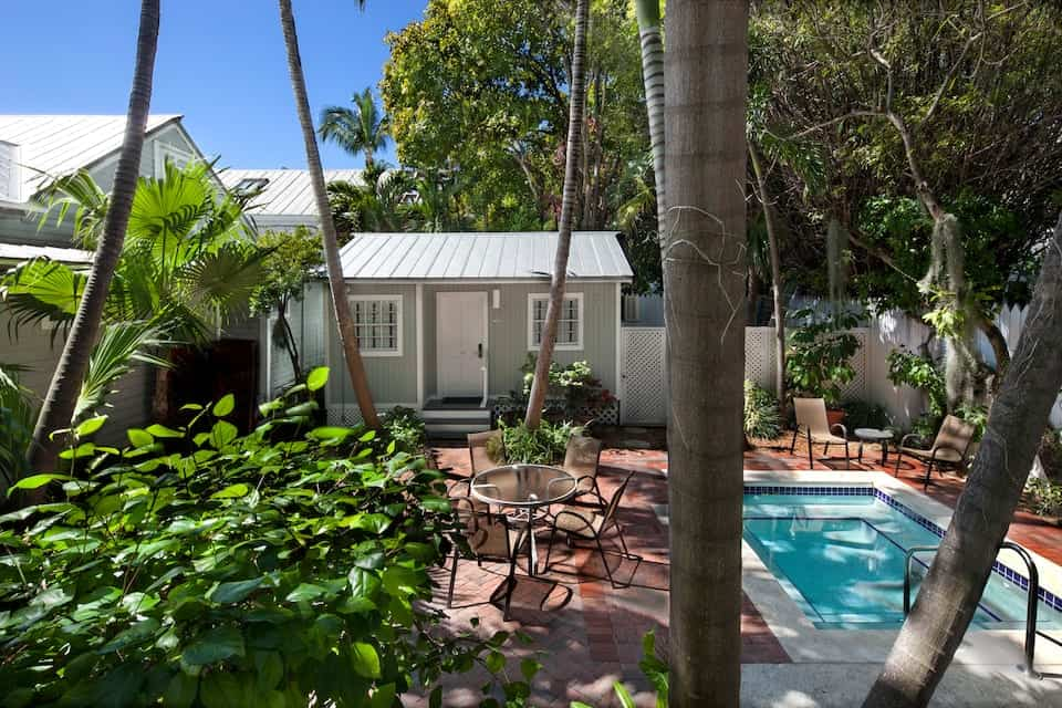 airbnb in key west with shaded pool