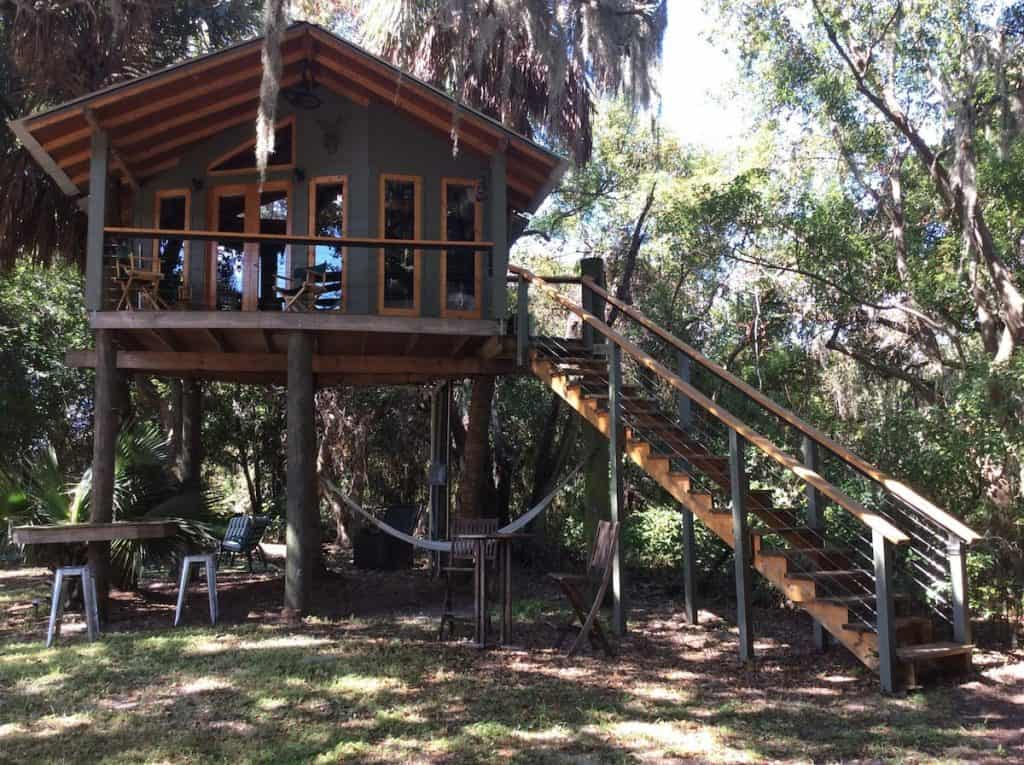 the Treehouse In The Woods Airbnb in Florida