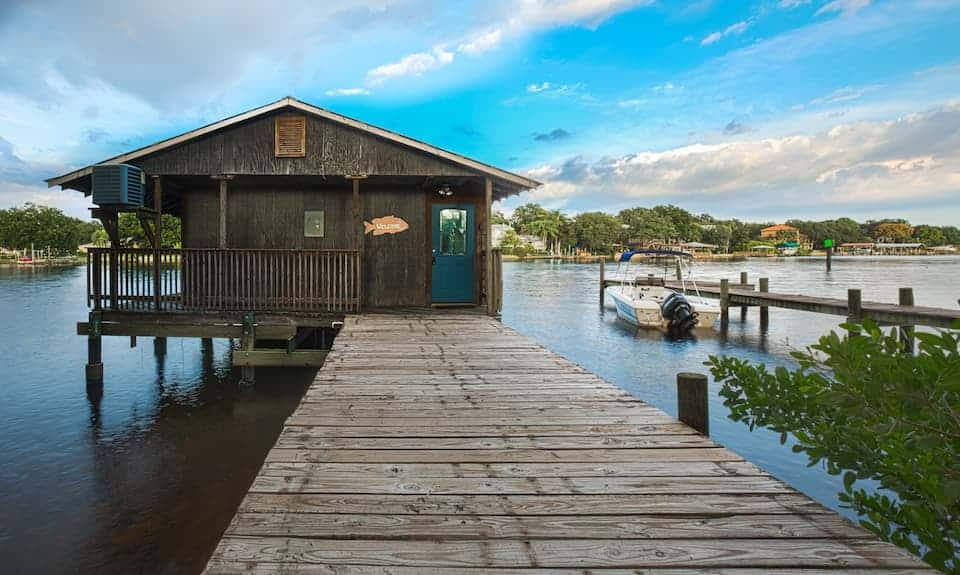 This boathouse is a unique stay in Tampa bay!