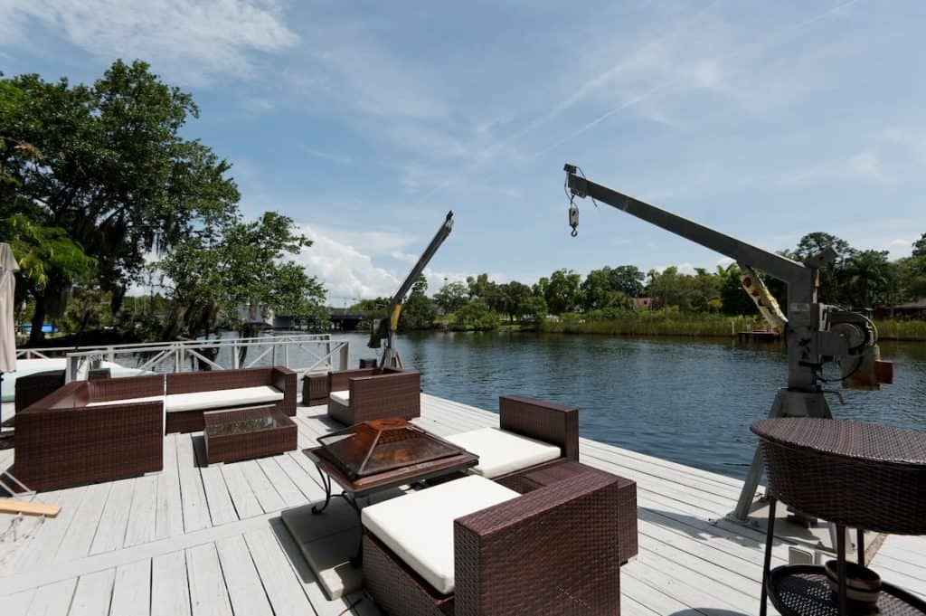 The Riverview dock of Hillsborough River at this airbnb has people renting all the time!