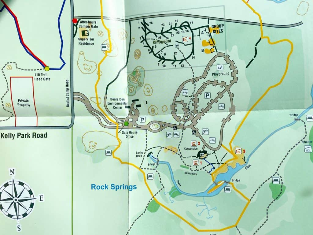 map of kelly park and rock springs