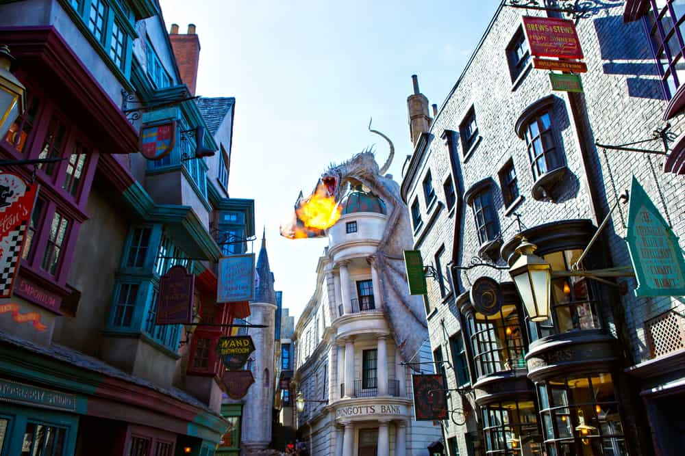 Universal Studios is home to the Wizarding world of Harry Potter