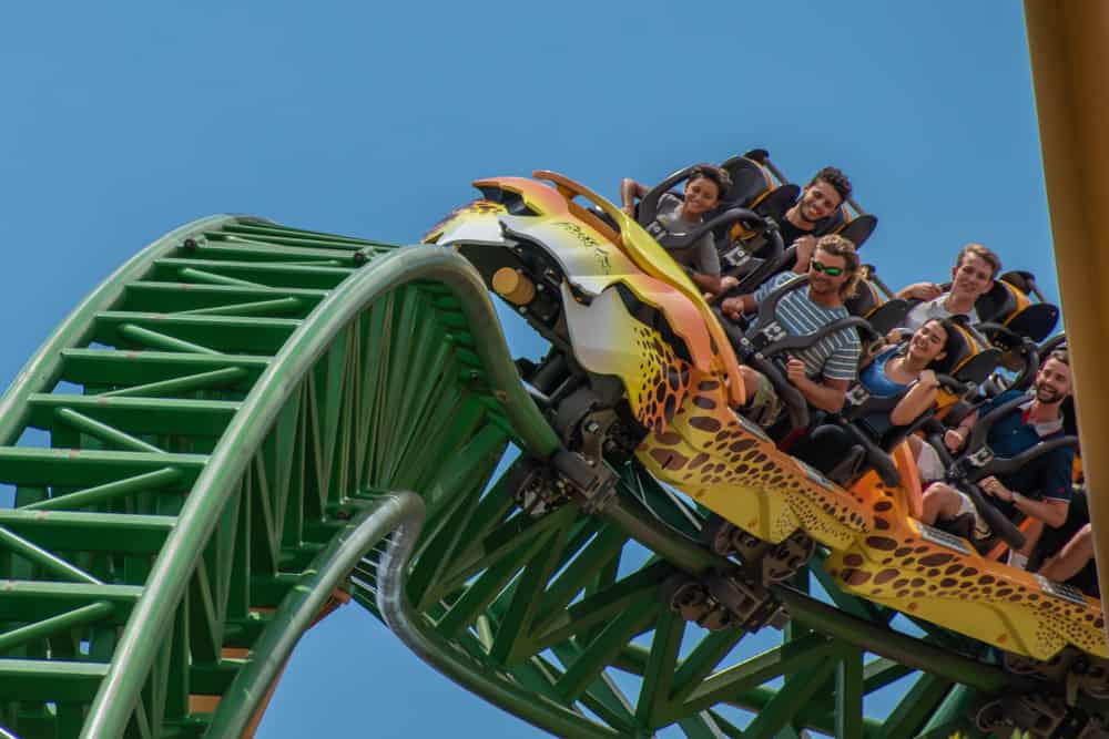 Busch Gradens is a perfect combo of thrill rides and zoo displays for animals.