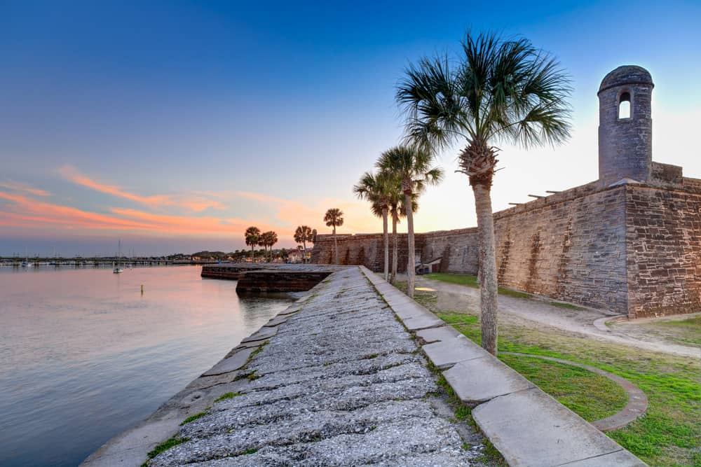The St. Augustine fort is historical and fun to explore!