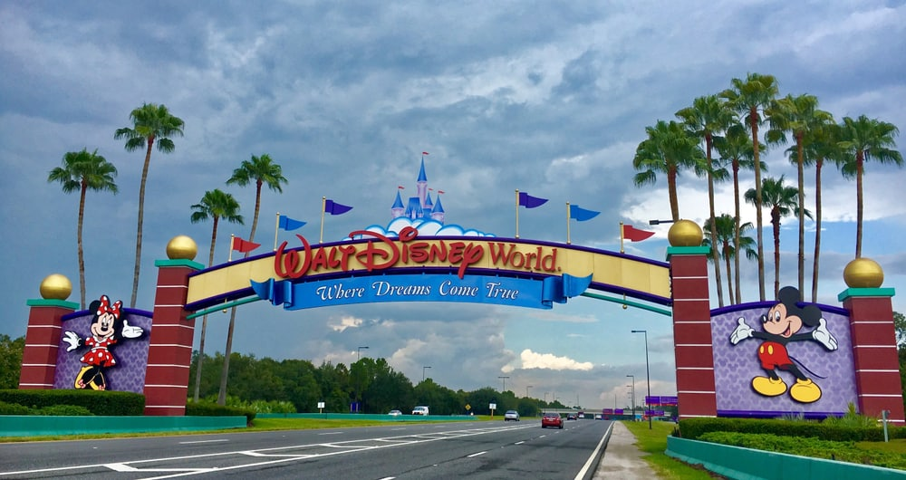 The Walk Disney World Sign is famous and welcomes you to the four parks!