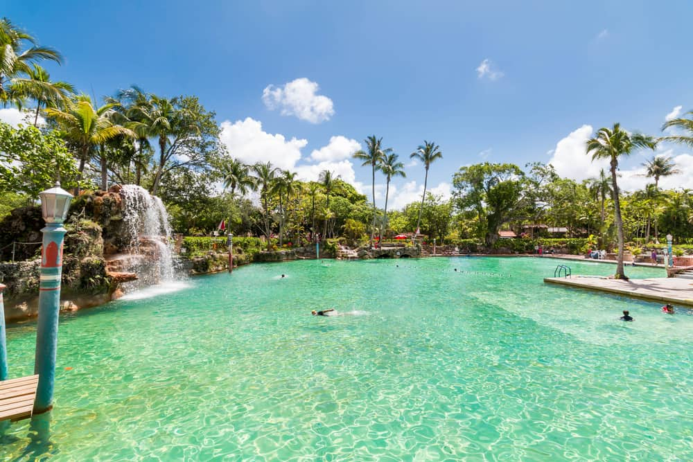 The Venetian Pool is the largest freshwater pool in America.
