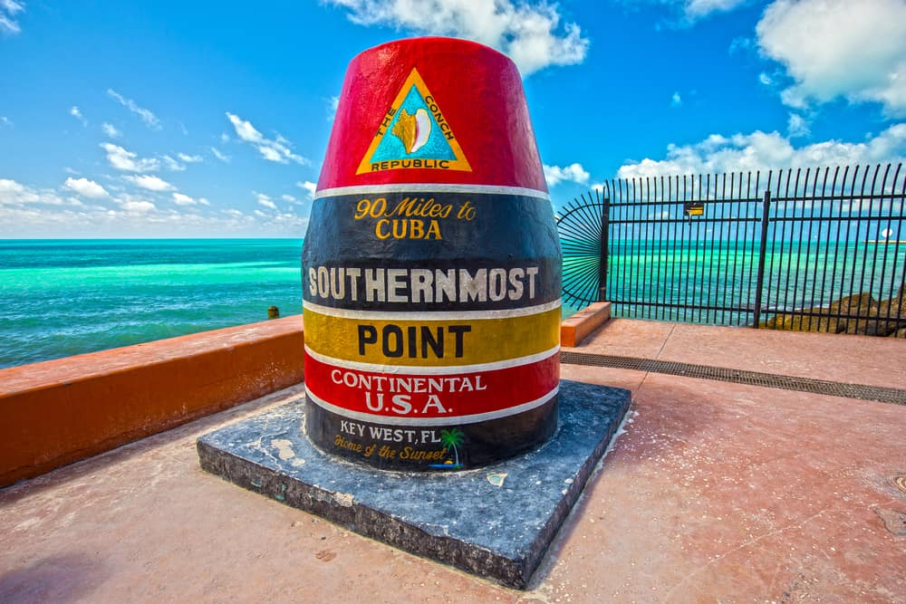 The southernmost point of the US is in Key West!