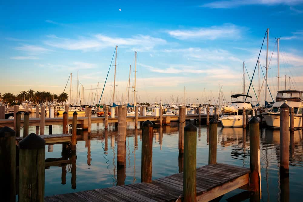 Coconut Grove is a fancy neighborhood but is known for its ports and water sports!