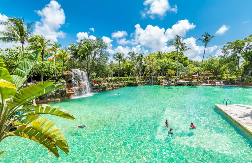 The Venetian Pool is a attraction of Coral Gables since it is the largest freshwater pool in the US.