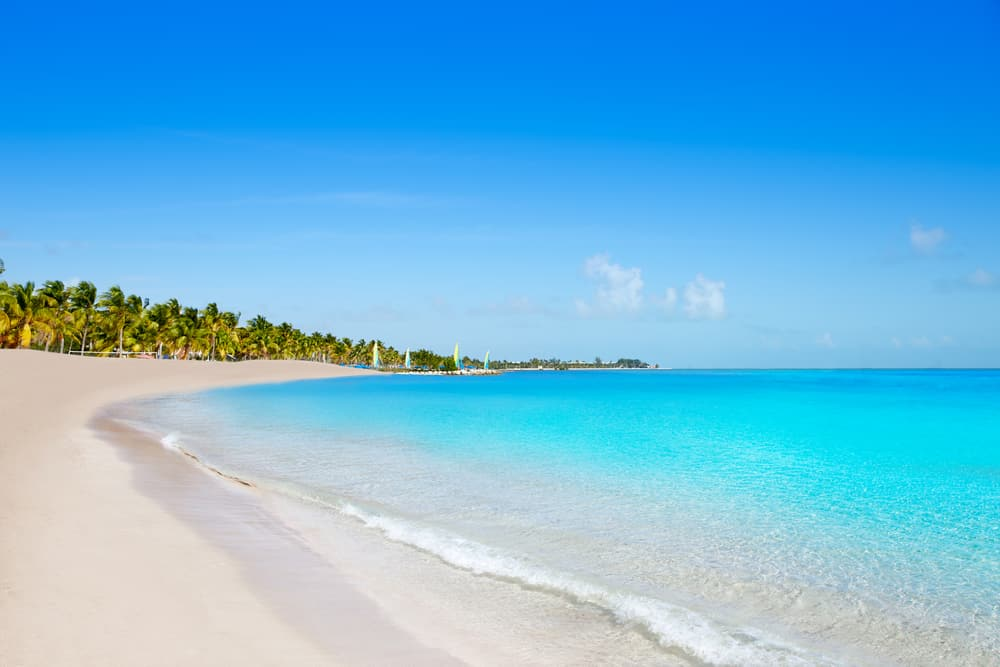 bright blue waters of beach on Key West