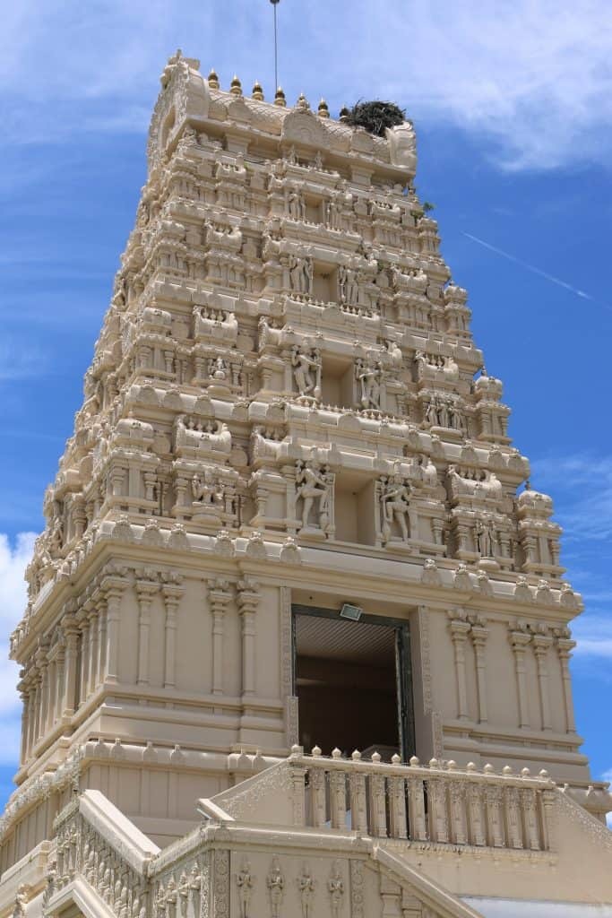 The towering Hindu Temple of Florida, one of the best things to do in Tampa this weekend.