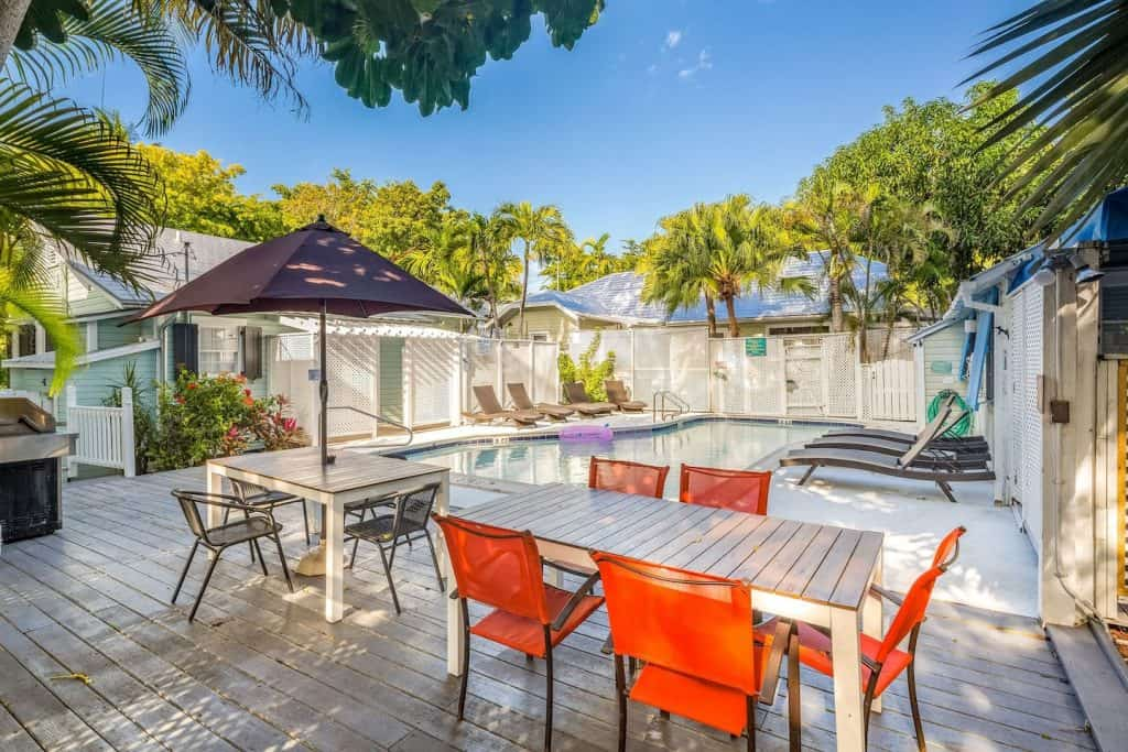 This is one of the cottages in Florida located in Key West a tropical oasis with shared pool.