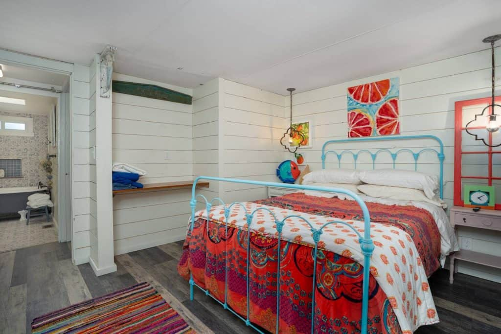 Bluefish Bungalow is one of the cottages in Florida located in St. Augustine this brightly colored oasis is located near the beach!