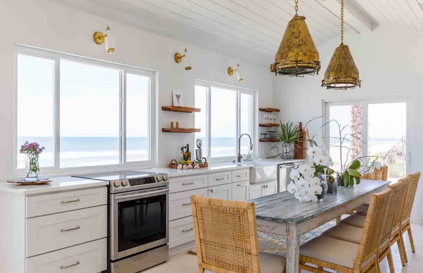 Beautiful interior of one of the cottages in Florida located on beachfront.
