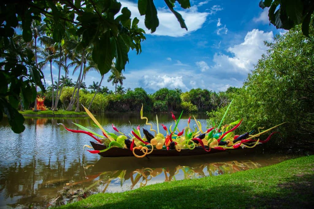 Art decorates the grounds at the Fairchild Gardens Spring Garden Festival, one of the best festivals in South Florida.