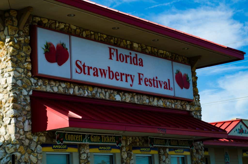 One of the shopfronts at the Strawberry Festival, named one of the best fairs in Florida.