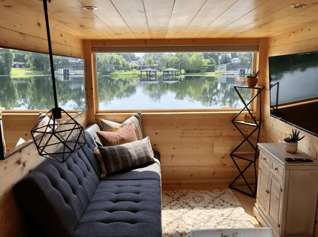 The cozy interior of The View in Orlando, Florida.