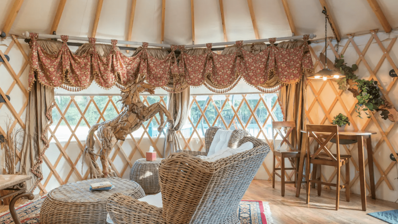 The beautiful Yurt at Donville.