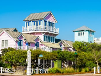 Beautiful Seaside village one of the best small beach towns in Florida.