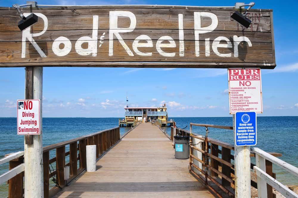 Rod n' Reel Pier Restaurant located on Anna Maria Island one of the best small beach towns in Florida.