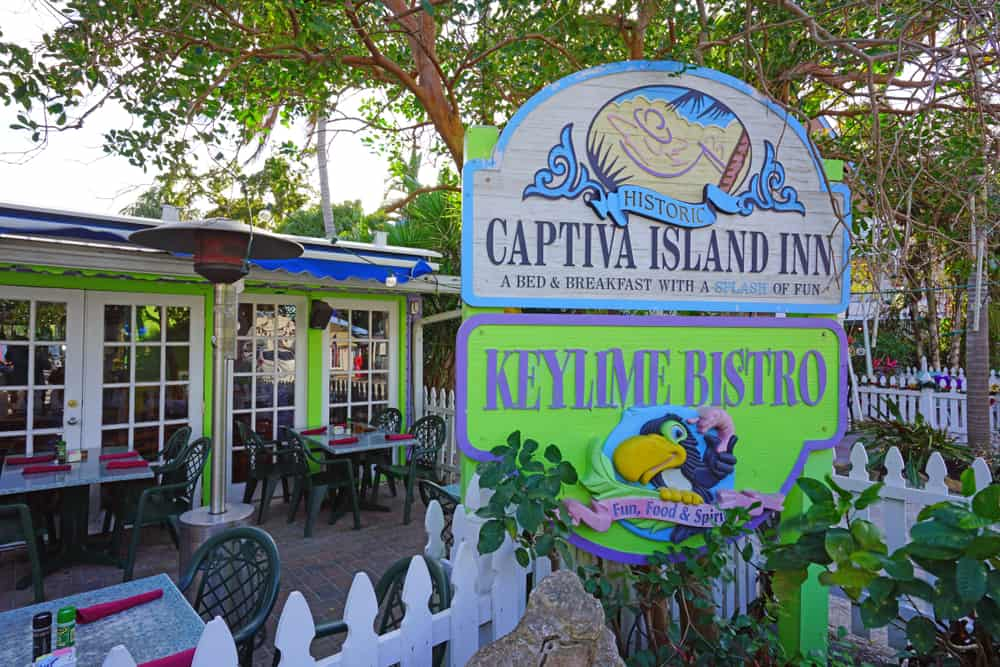 The key lime bistro located on Captiva island.