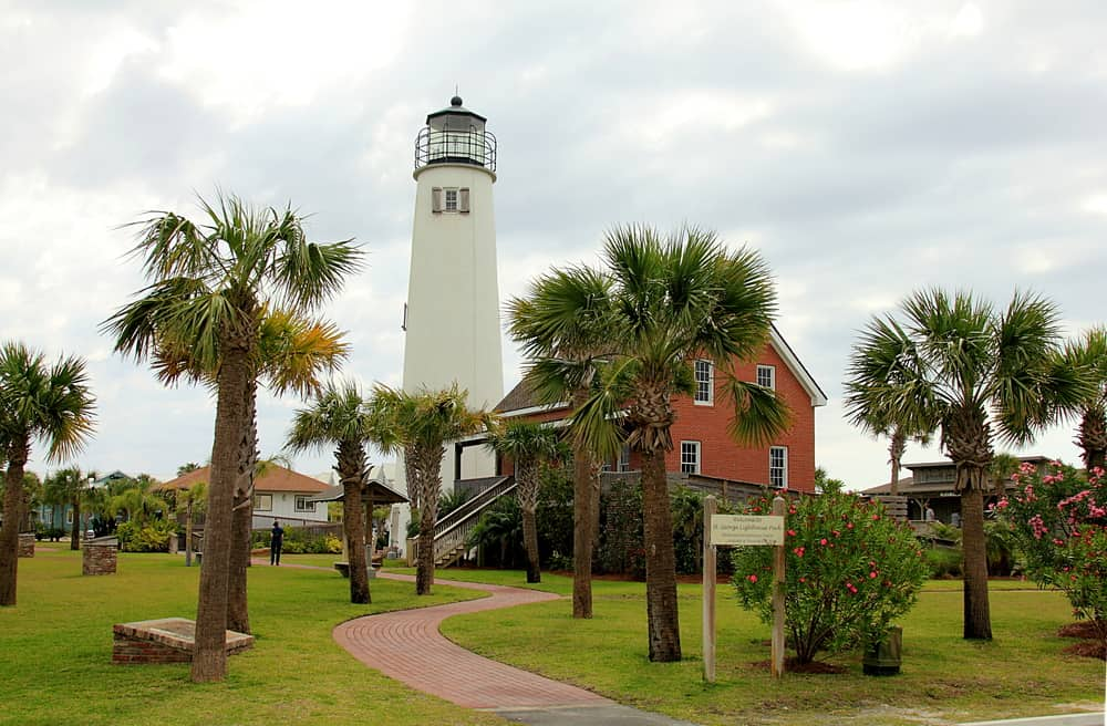 The 79 foot lighthouse located on St. George Island in Florida.
