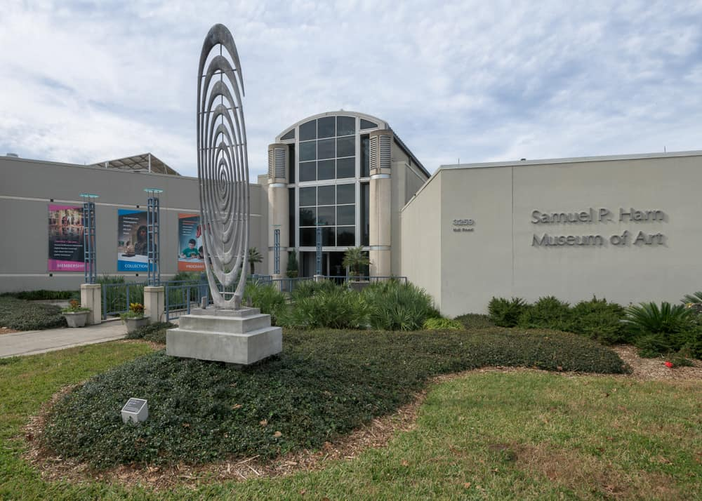 The Samuel Harn art museum with metal sculpture outside should be on any list of free things to do in Gainesville.