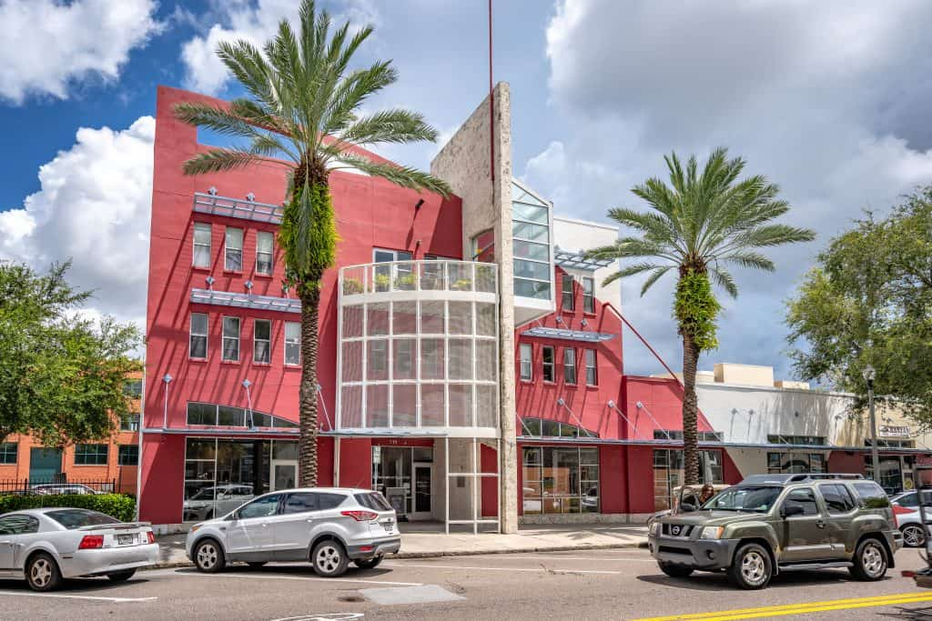 The Morean arts center exterior building one of the best educational things to do in St. Petersburg Florida
