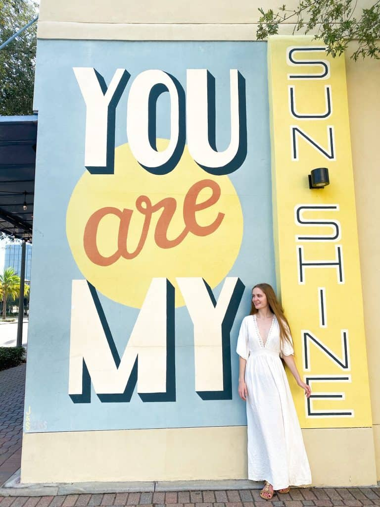 """A you are my sunshine"" mural a must for things to do in St. Petersburg Florida"