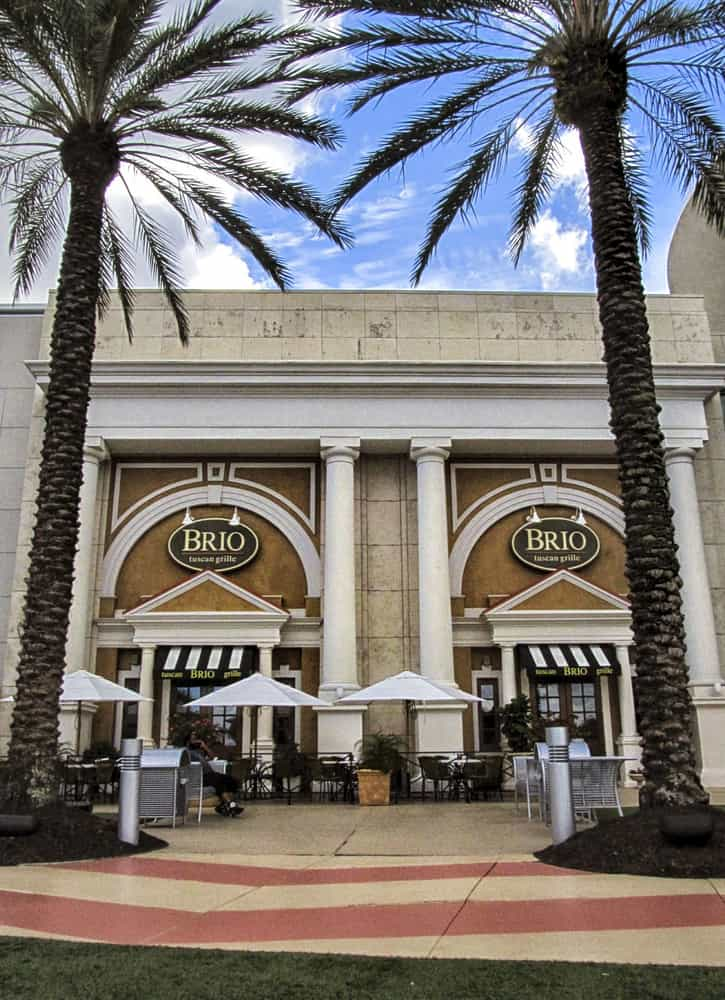 Brio Grille at the Millenia Mall in Orlando.
