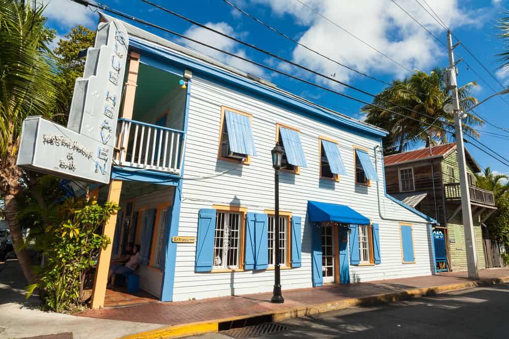 blue, weather exterior of Blue Heaven restaurant