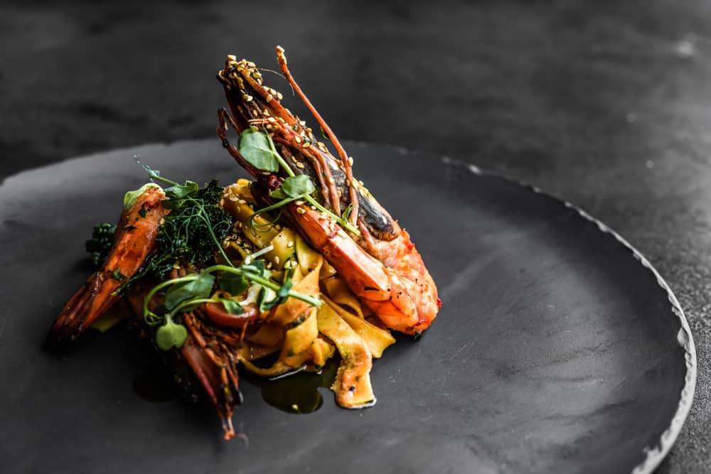 elegant seafood dish with shrimp