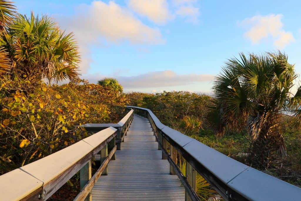 The nature trail winds through the tropical hammocks of Barefoot Beach State Preserve, one of the best beaches in Naples.