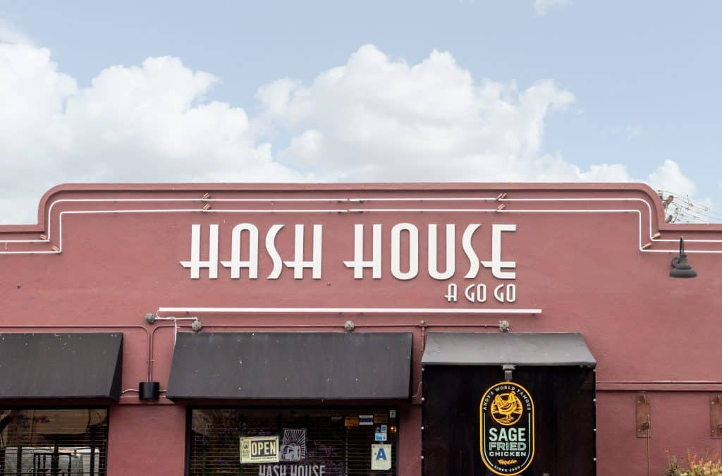 The exterior of the one and only Hash House a Go Go, in Orlando.