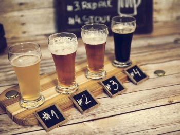 Enjoy a beer flight at one of the breweries in Orlando