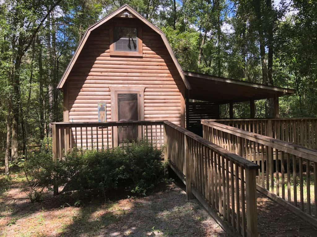 Photo of Three Rivers Private Retreat log cabin, one of the best cabins in Florida.