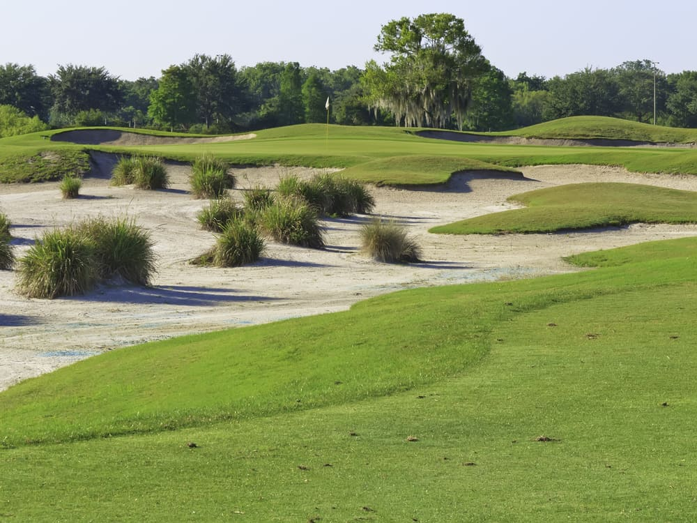 Tiburon is another one of the best golf courses in Naples with sandy shell bunkers.