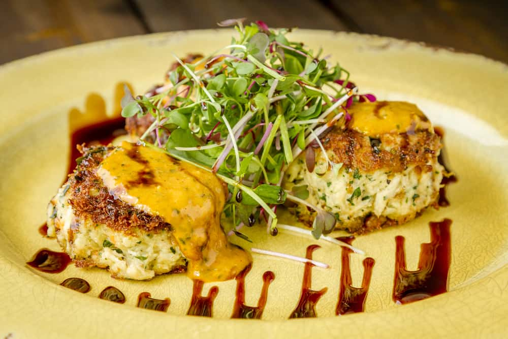 The blue crab cakes at Julington Creek Fish Camp is one of the best things to eat!