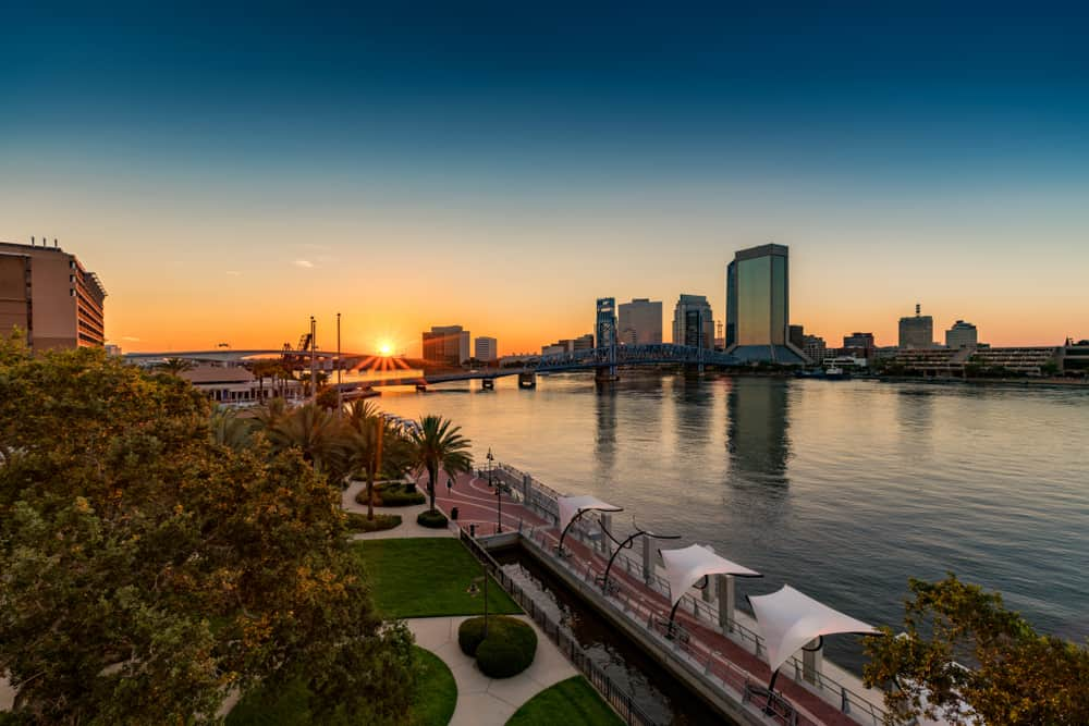 Beautiful St. John's River in Jacksonville Florida.