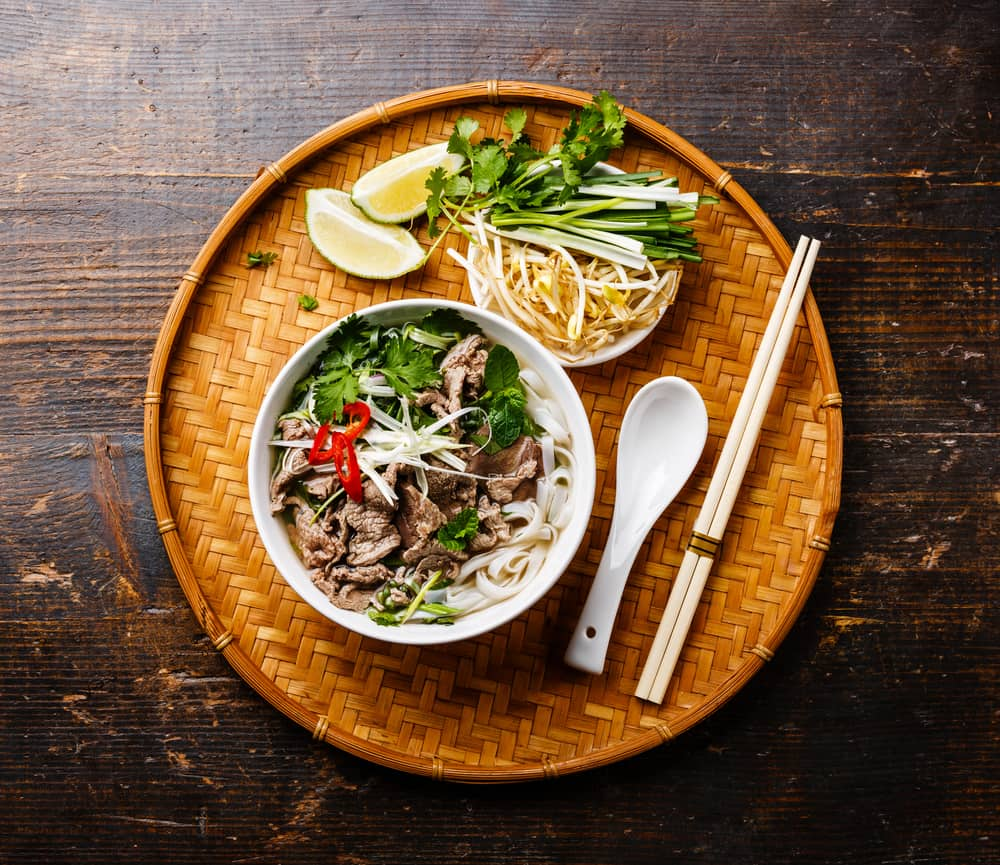 Try Pho a Vietnamese noodle soup one of the great things to eat in Jacksonville.