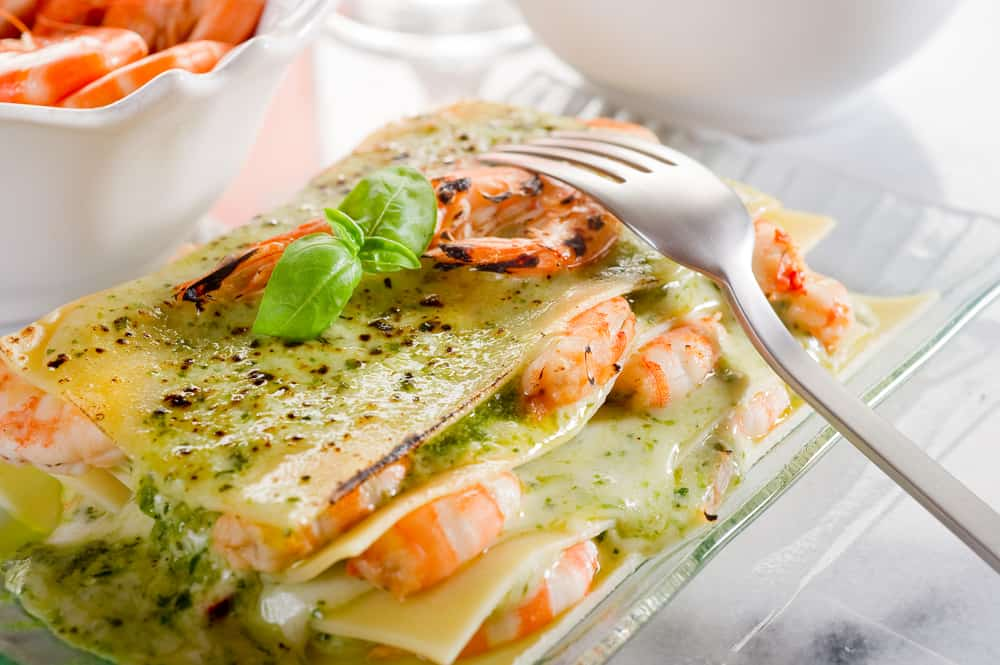 Seafood lasagna is an amazing dish to eat an Enza's one of the best restaurants in Jacksonville for Italian food.