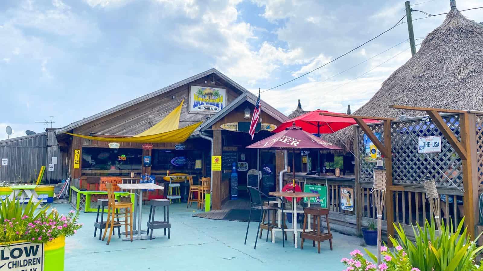 Jack Willies Tiki bar is one of the best outdoor restaurants in Oldsmar